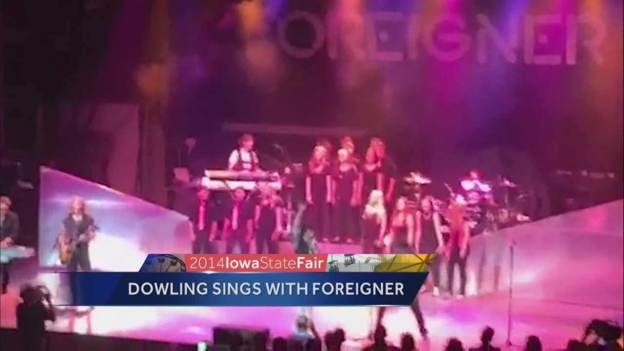 Dowling Catholic students closed out the Iowa State Fair with a moment they will never forget.