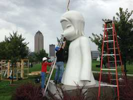 """""""White Ghost"""" sits in the northwest corner of the PappaJohn Park."""