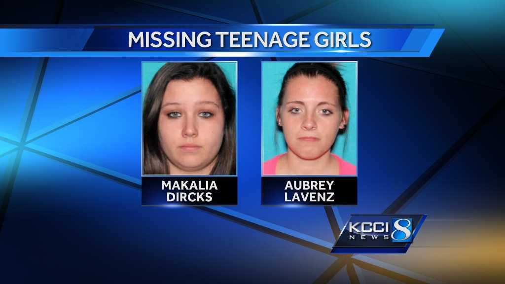 Jones County officials said Makalia Jean Anne Dircks, 17, and Aubrey Lavenz, 16, were last seen in Anamosa around 10 p.m. Friday.