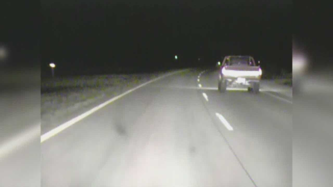 Police dashcam video provides an up-close look at a high speed chase Saturday night that stretched across multiple counties.