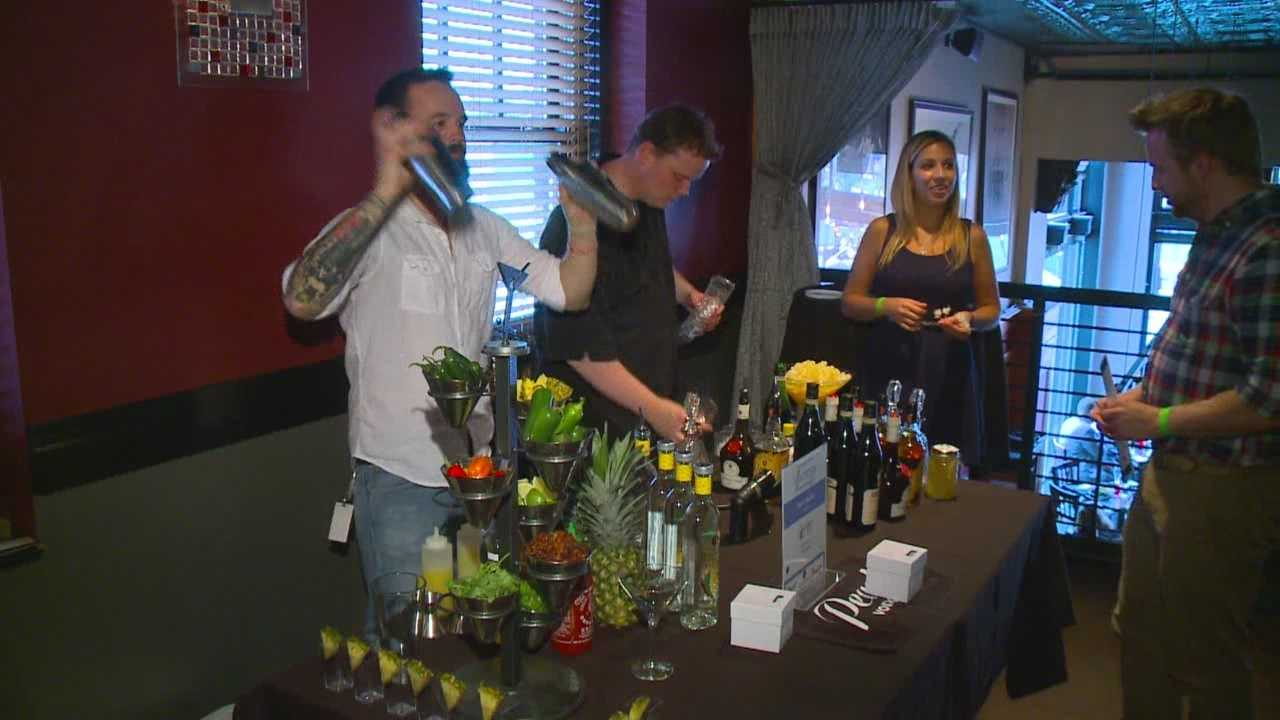 Cocktail creators battled it out at Americana Restaurant in downtown Des Moines Wednesday night.