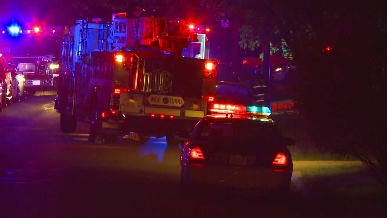 A woman escaped an overnight fire in a Des Moines basement.