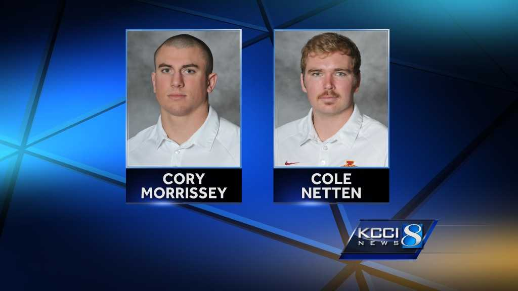 Iowa State senior defensive end Cory Morrissey and sophomore placekicker Cole Netten were honored by the Big 12 Conference for their outstanding performances in the Cyclones' 20-17 win at Iowa on Saturday.