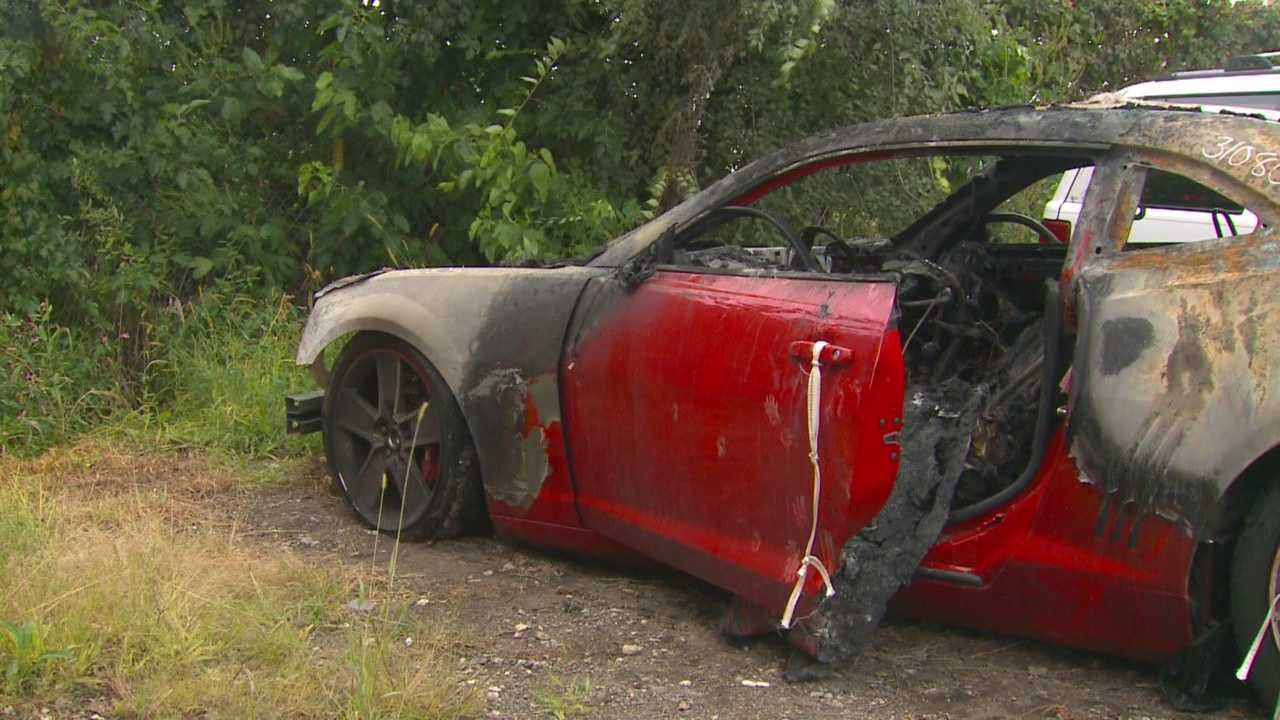 What happened the day an auto dealer left the scene of a Camaro on fire.