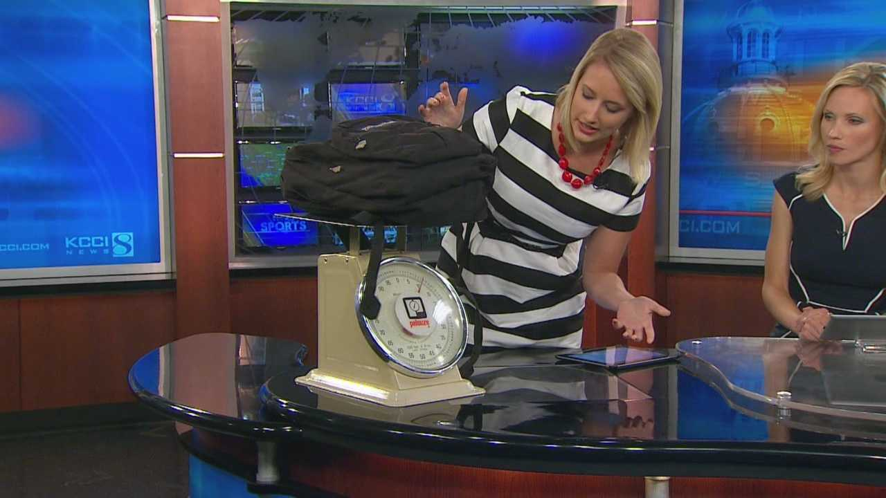 KCCI's Kim St. Onge shows you tips to keep your child's backpack light for school.