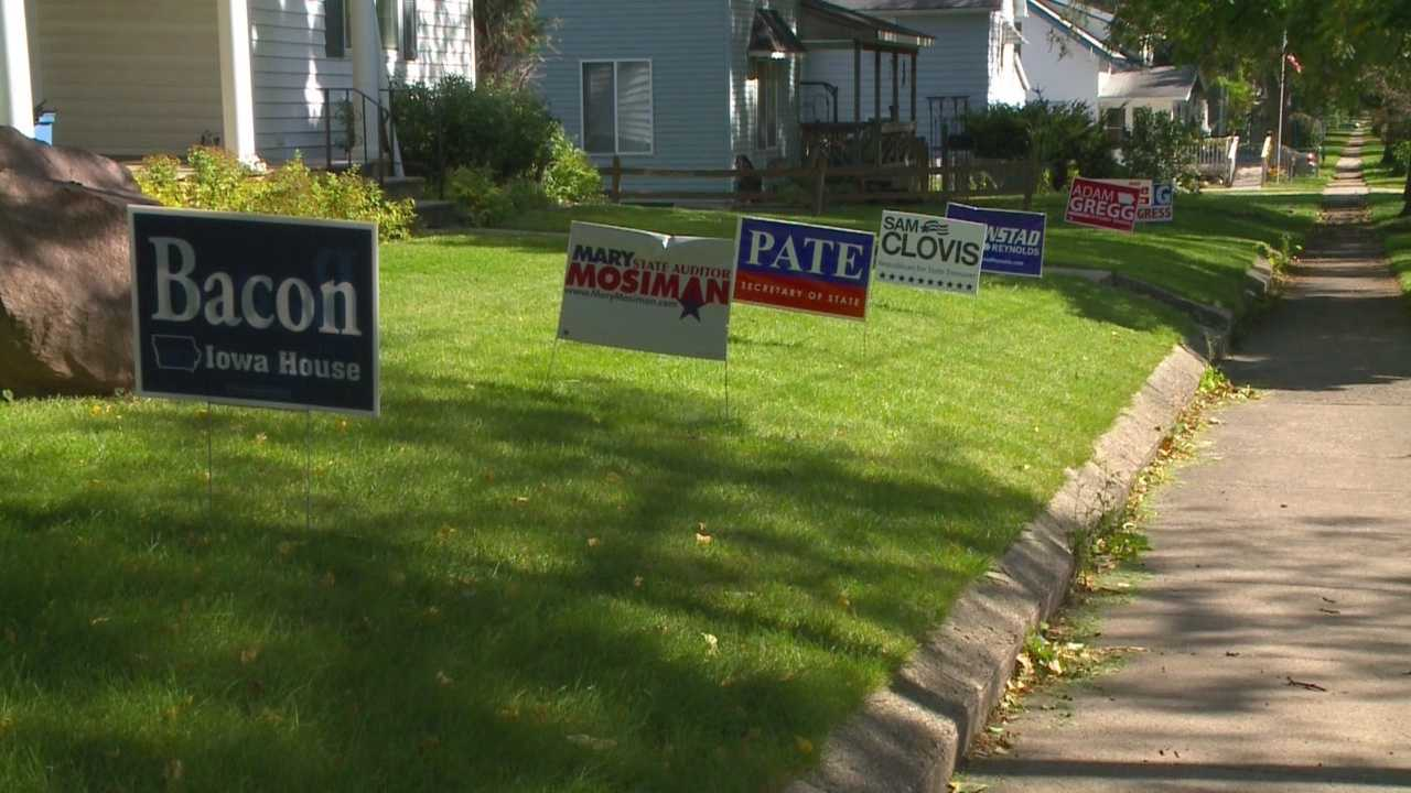 Some Iowa residents are up in arms over the rules on political signs, and they're saying the rules are unconstitutional.