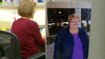 She started walking around the airport and has since lost more than 200 pounds.