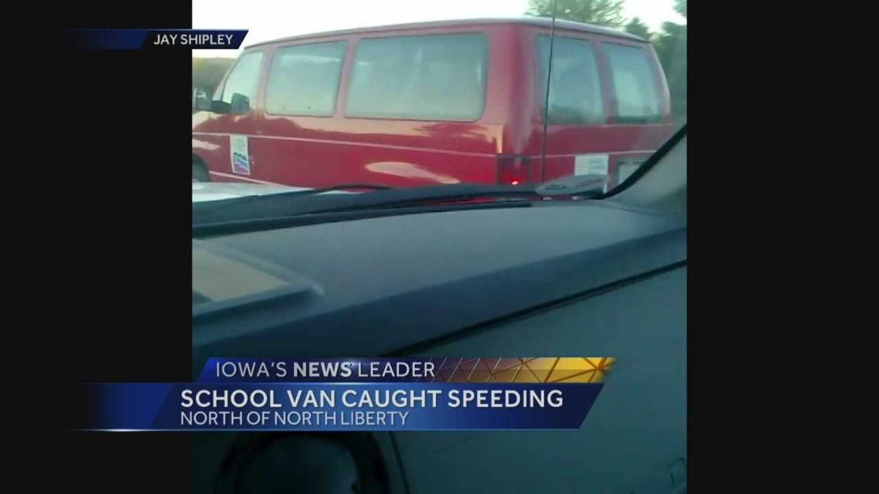 A school staff member was driving students to a conference in Des Moines.
