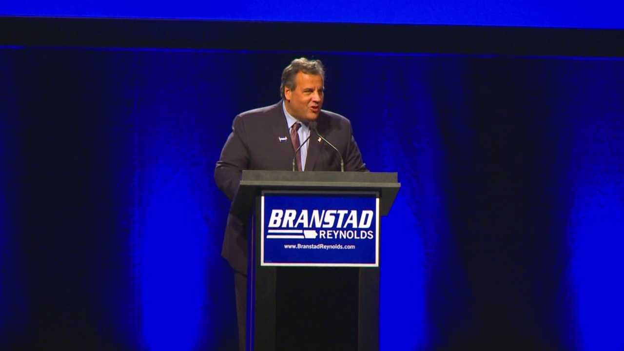 New Jersey Gov. Chris Christie was in Iowa Saturday for more than just campaigning Gov. Terry Branstad.