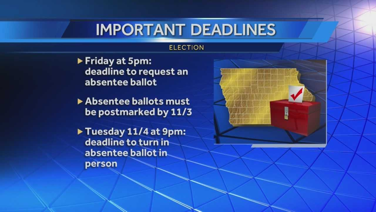 Polk County Auditor Jamie Fitzgerald has some tips and information about Election Day deadlines.