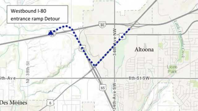 Here's the map for the detour.