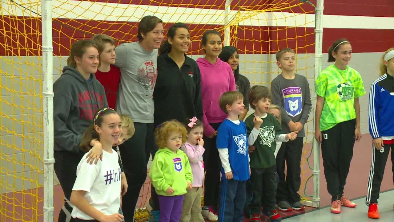 The top goal scorer in the history of the U.S. women's soccer was in Des Moines Sunday.