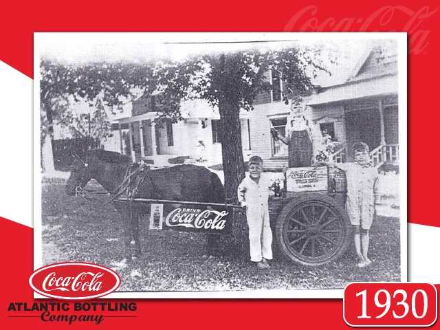 "The brothers purchase the old ""Atlantic Bottling Works"" and sold their ice cream business to concentrate on their soda water.   Pictured:  Jim Tyler, and friends Frank and Hugh Webber."