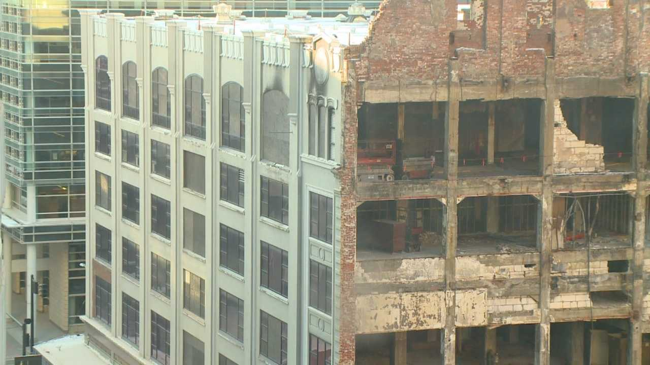 It's been eight months since a devastating fire changed the historic face of downtown Des Moines.
