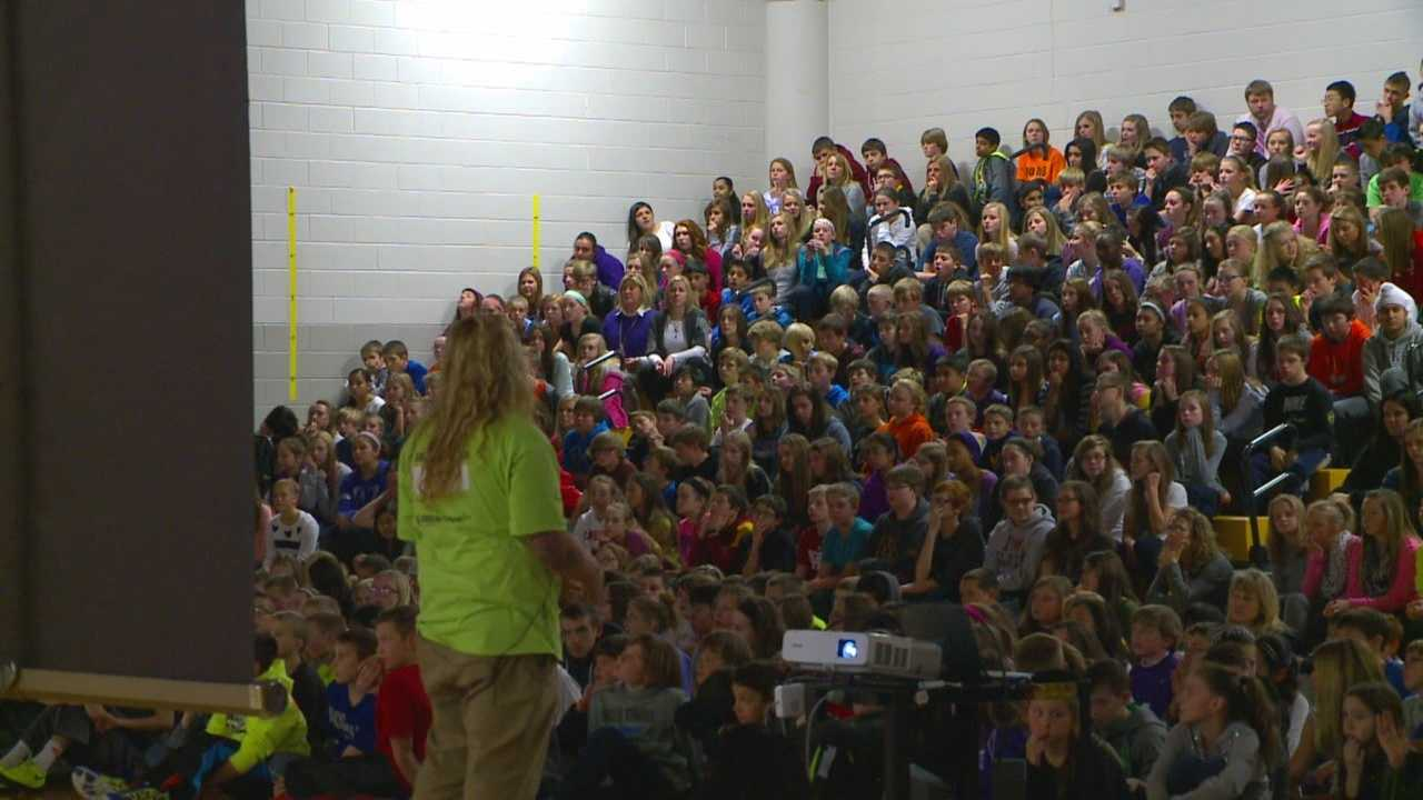 """The message was simple at the middle school assembly: """"You are not alone."""""""