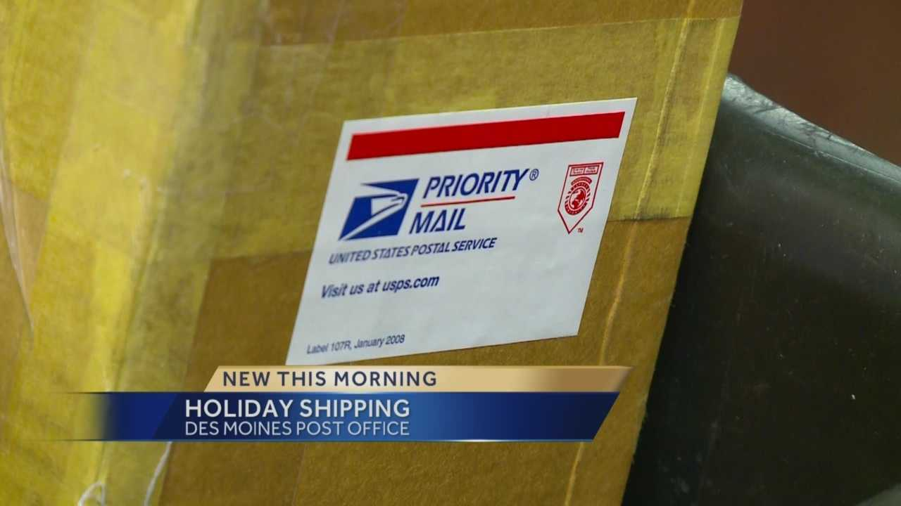 The holiday season is the busiest time for the post office.