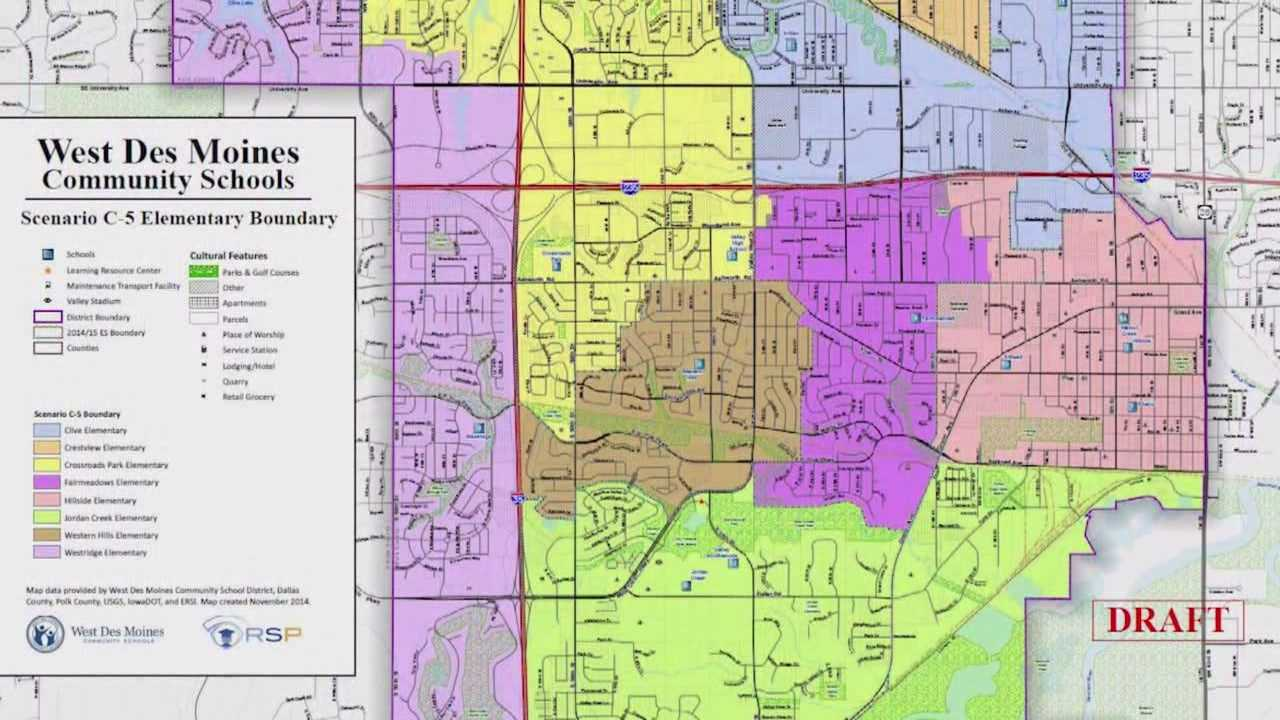 The decision over West Des Moines school boundaries was decided Monday night.
