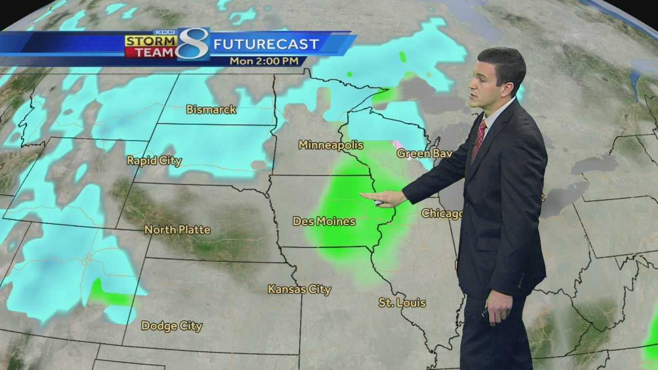 KCCI 8 News at Six (Saturday) weather forecast.