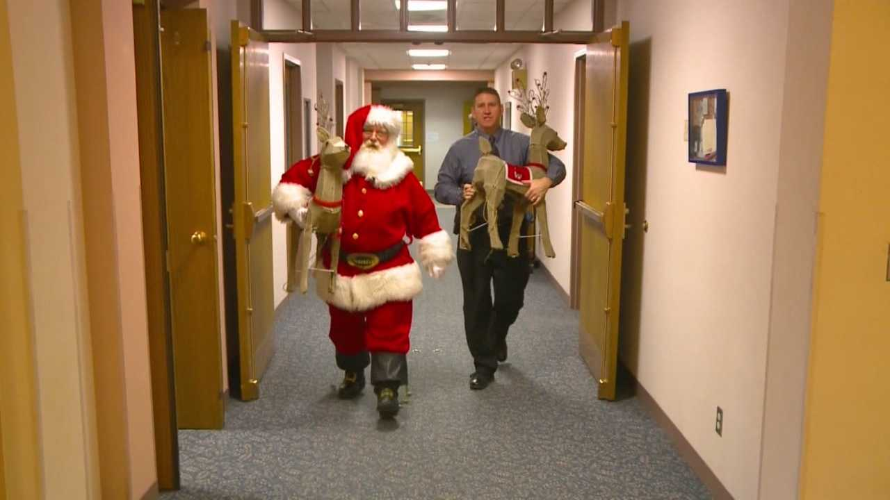 Some reindeer snatched from their homes have been returned, but Santa has a message for the thieves that are going around Ames stealing reindeer.