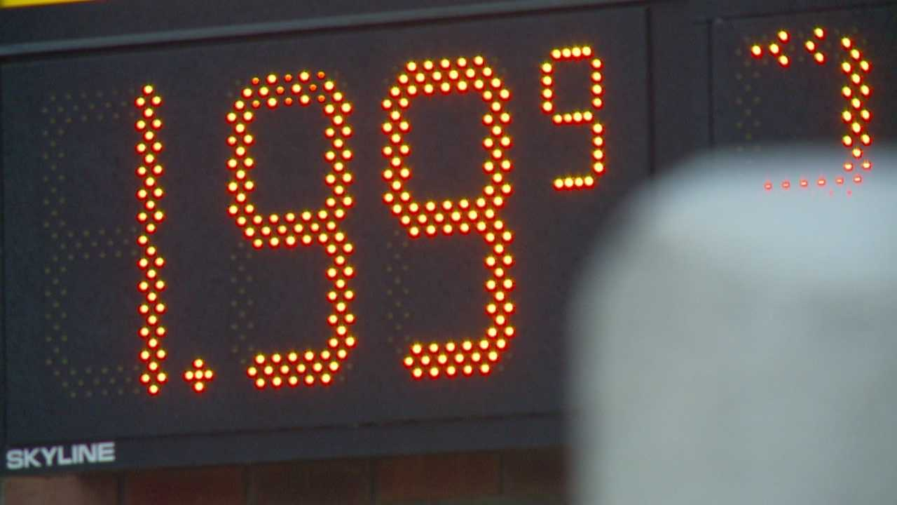 The last time gas prices dropped below $2 a gallon was in 2008.