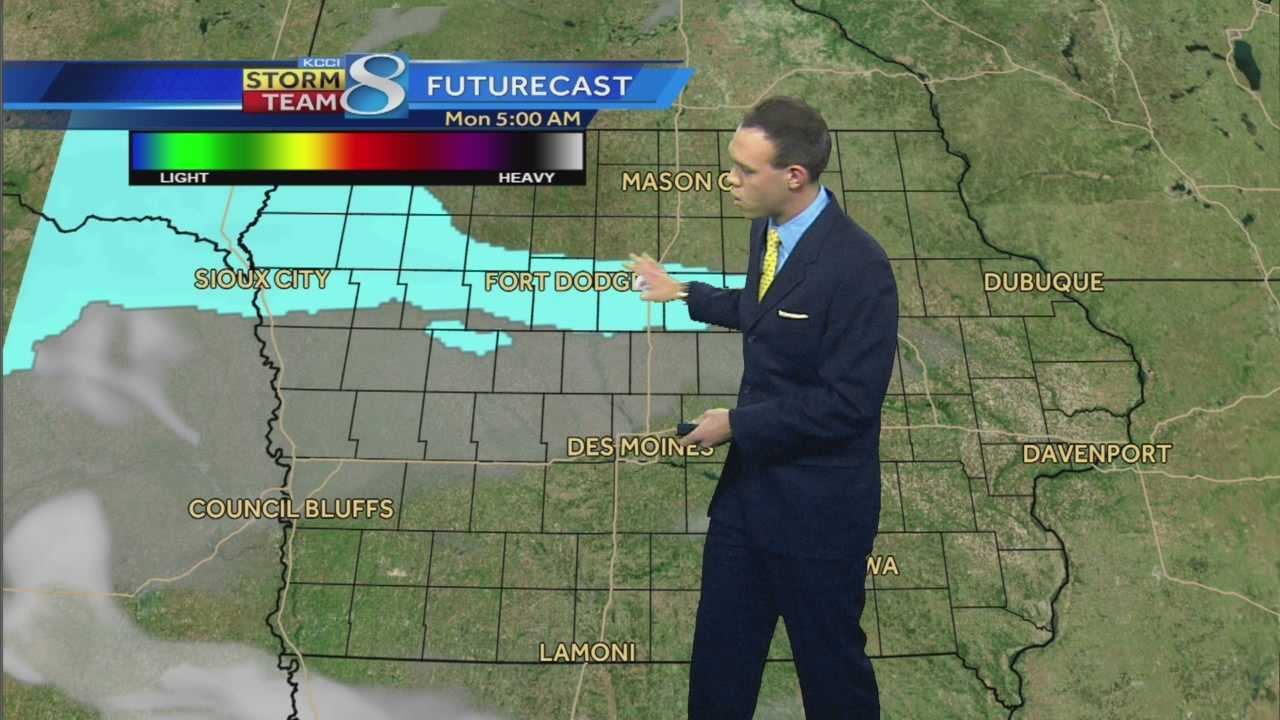KCCI 8 News at Ten Sunday weather videocast.
