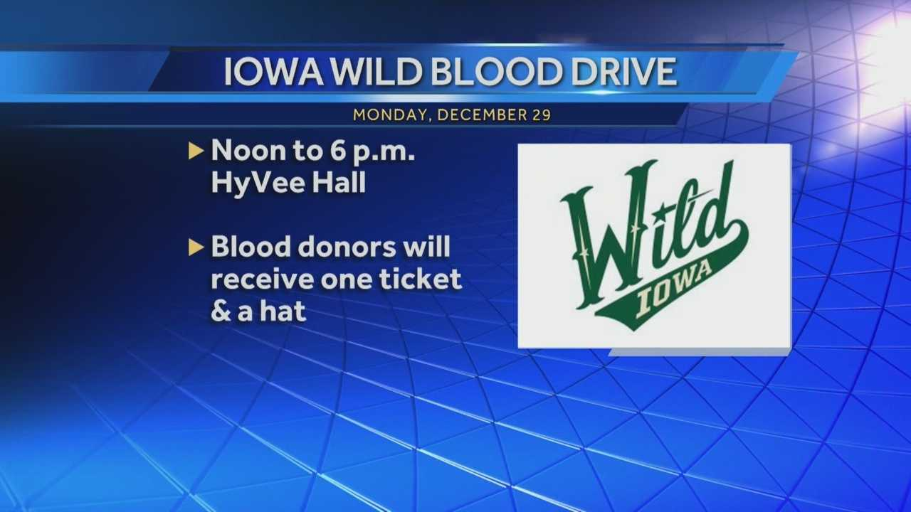 Hockey can be a bloody sport, but at Monday night's Iowa Wild game, that's a good thing.