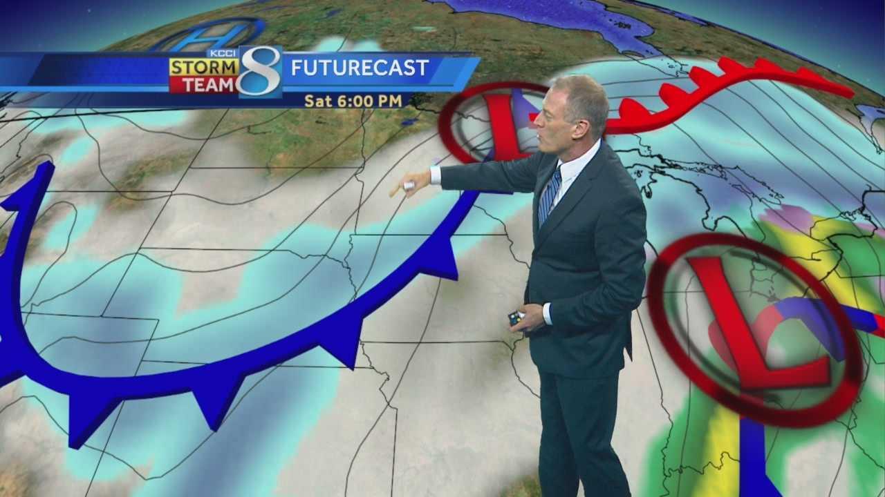 KCCI Chief Meteorologist John McLaughlin's forecast for Iowa.