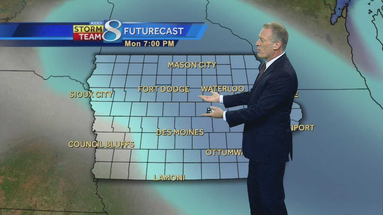 KCCI 8 News at Ten weather forecast.