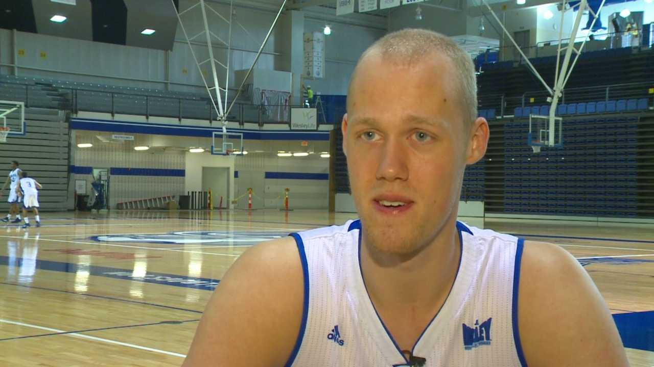 Drake men's basketball's 7-footer has come a long way since he came over from Denmark last year.