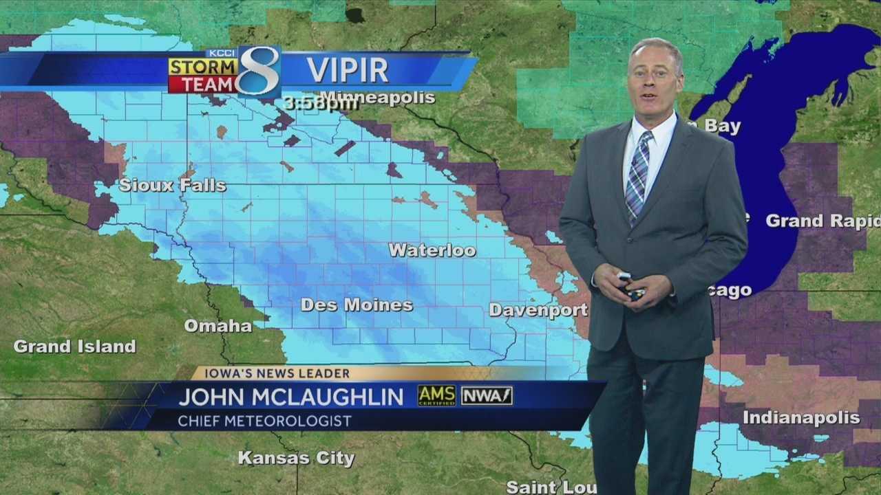 KCCI Meteorologist John McLauglin's forecast for Iowa.