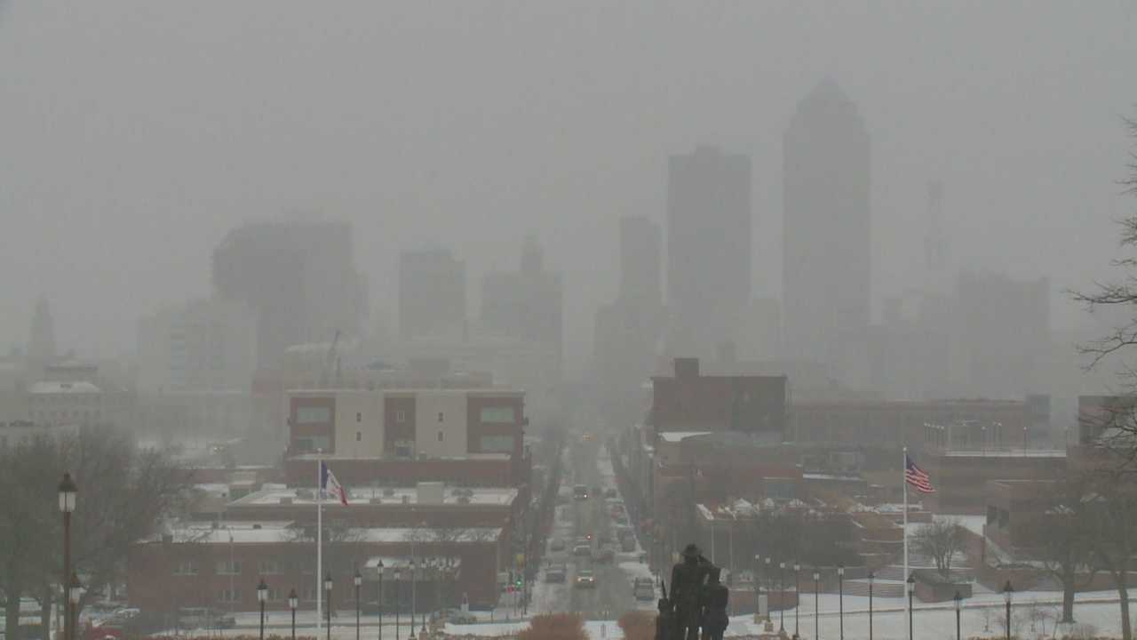 A snowstorm traffic jam left commuters stranded for hours last year.