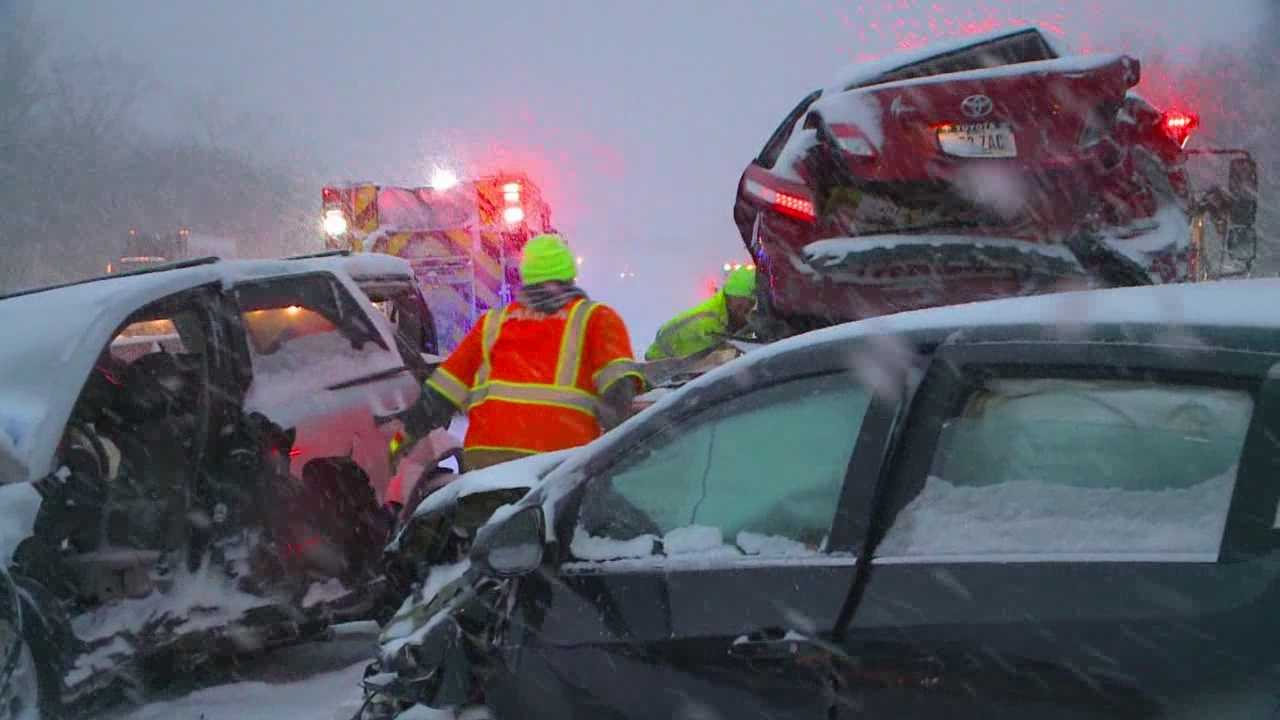 A nearly 20-car pileup caused a huge chain reaction wreck on Interstate 80 between Des Moines and Altoona Monday afternoon.