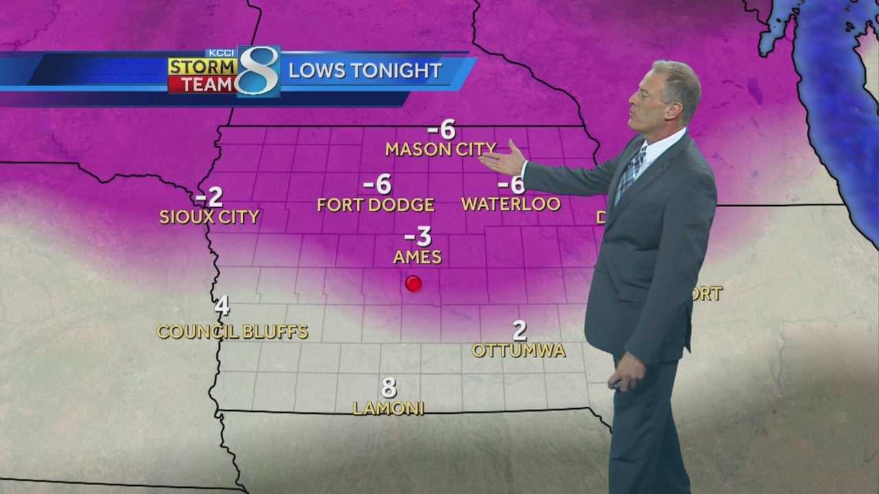KCCI 8 News weather forecast for central Iowa.
