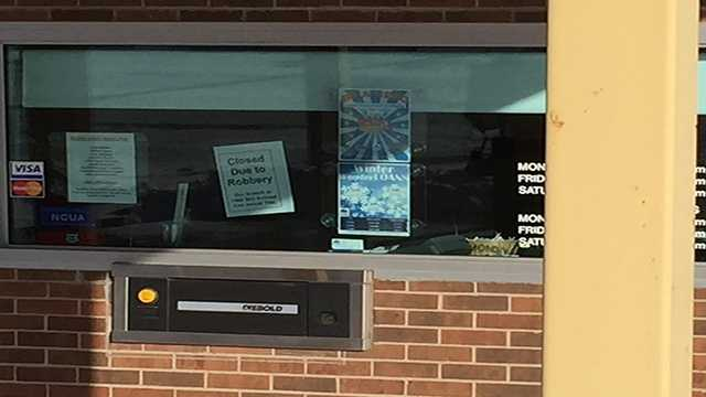 A closed sign is now posted at the Credit Union.
