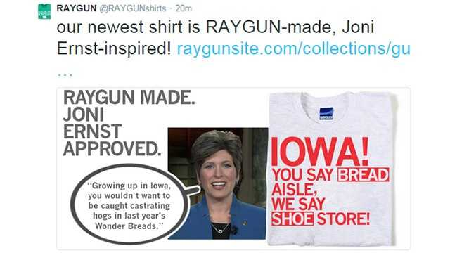 Sen. Joni Ernst's bread bag story inspires T-shirts and more