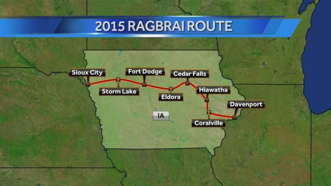 2015 ragbrai route