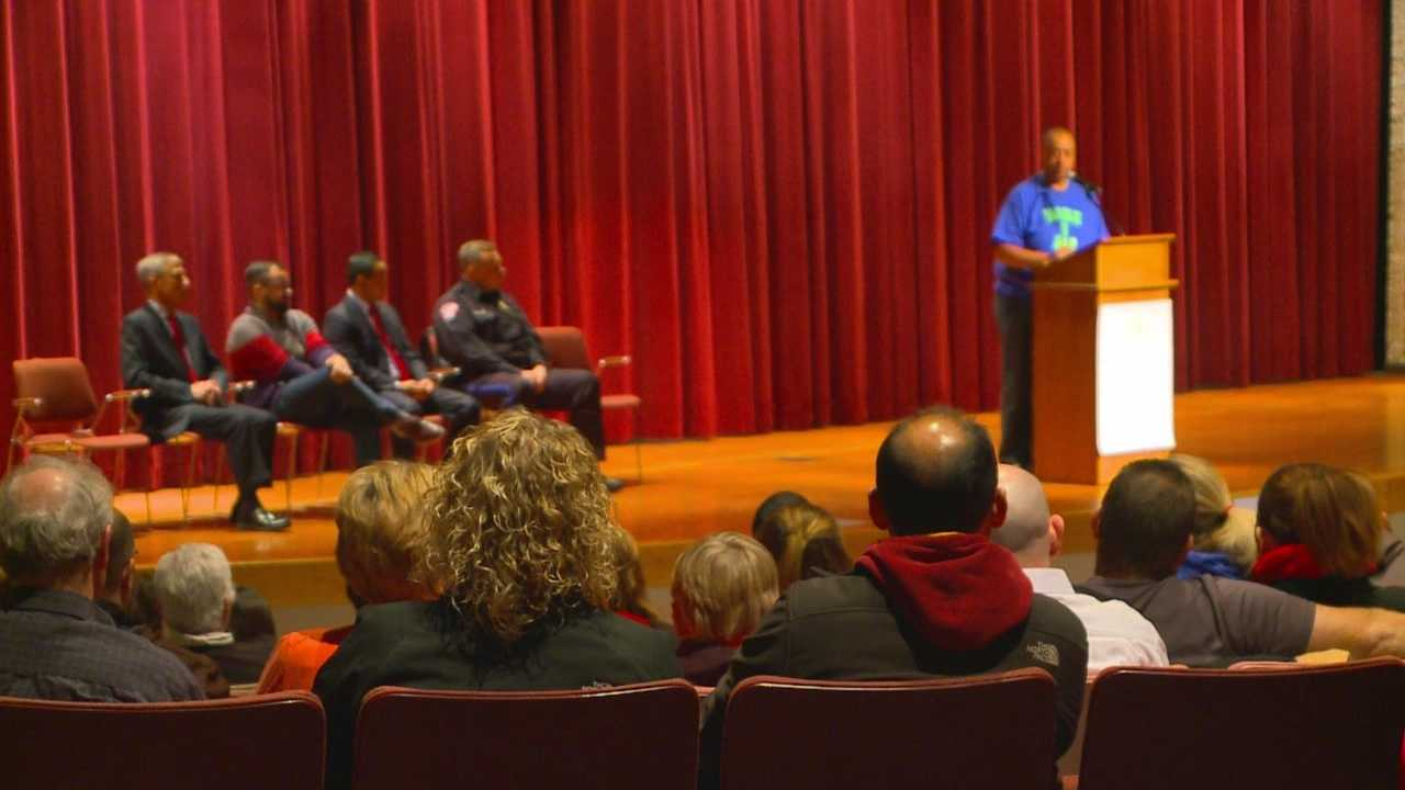 Community leaders and residents gathered Tuesday to focus on what's positive about living and working in the town.