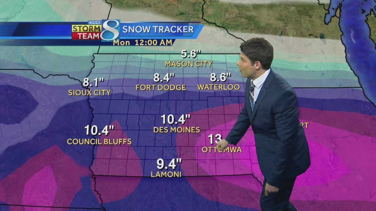 KCCI 8 News at Six weather forecast.