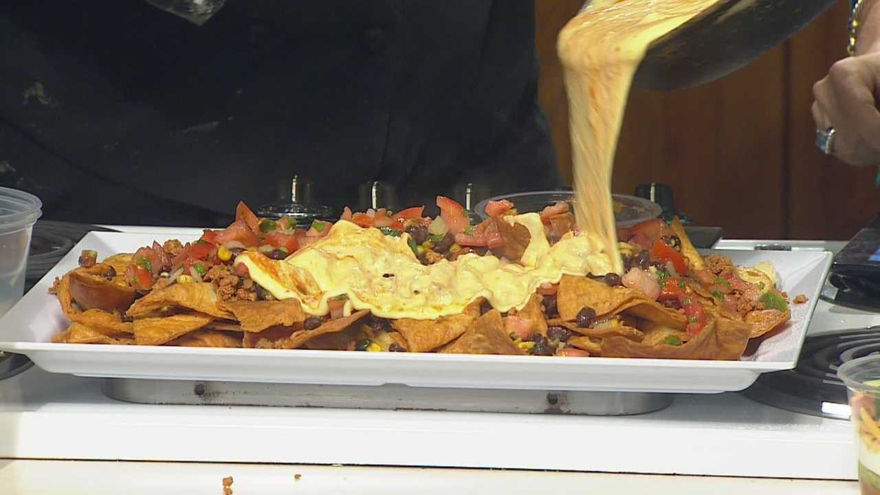 Abbe Hendricks and Courtney Oberender, of Gateway Market, have your Game Day recipe for Ultimate Nachos.