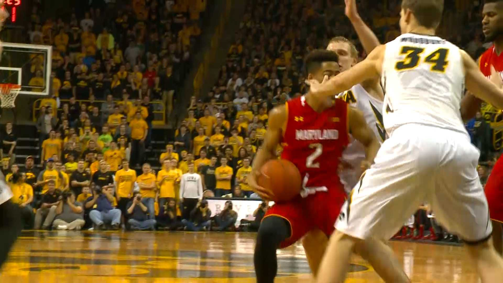 Fran McCaffery was not too happy to talk about another Adam Woodbury incident.