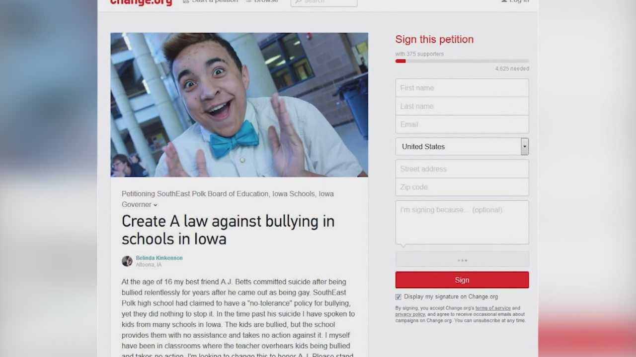 The death of a local teen in 2013 is now sparking an online movement against bullying.