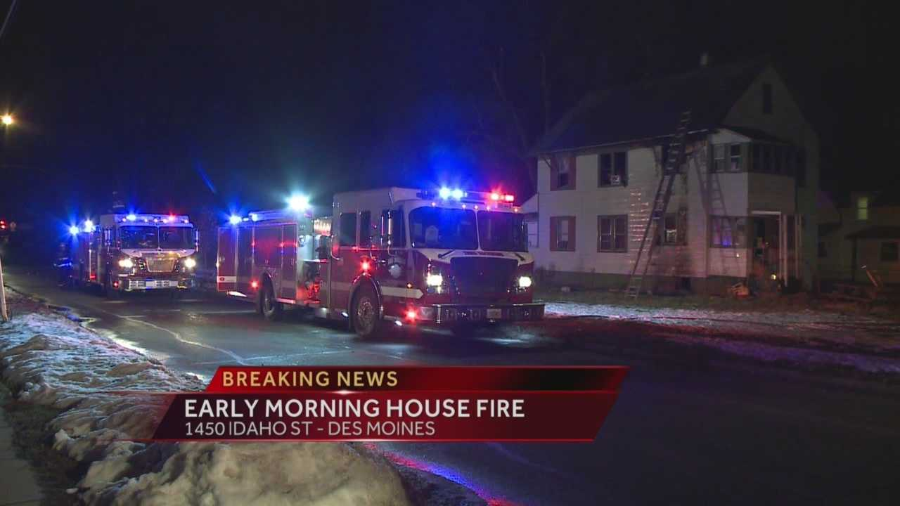 Officials are investigating an early morning fire north of East High School in Des Moines.