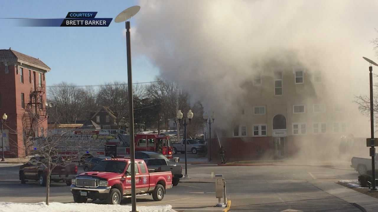 A Nevada man is flown to a Des Moines hospital after a fire Thursday.