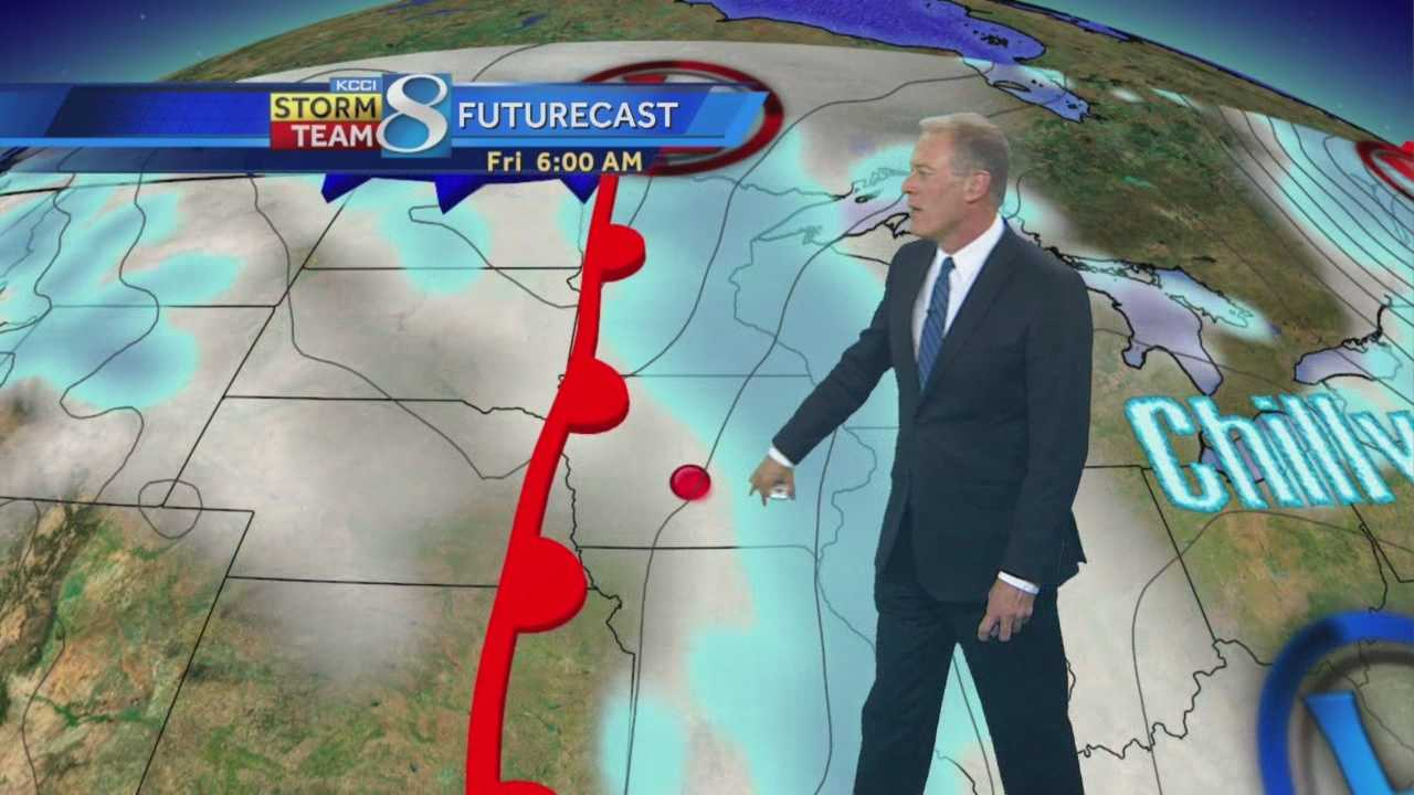 KCCI Chief Meteorologist John McLaughlin's forecast for Iowa.