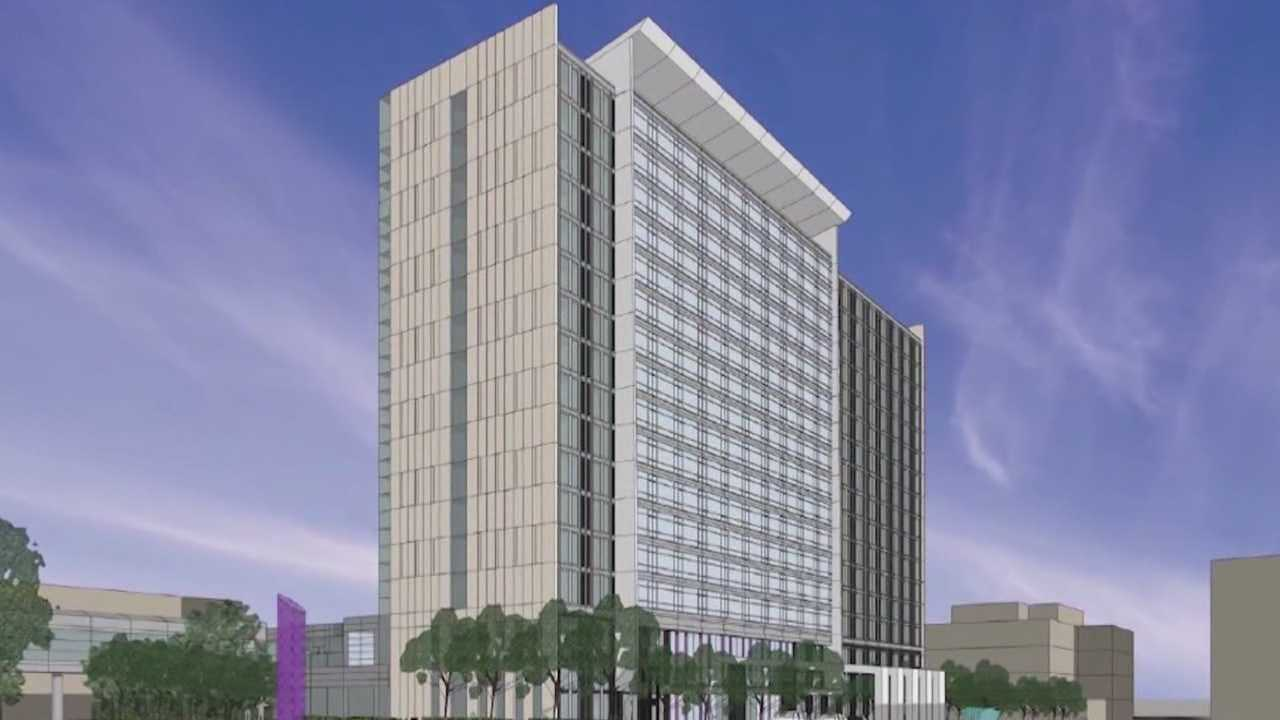 A new convention center hotel is planned near the Iowa Events Center in downtown Des Moines.