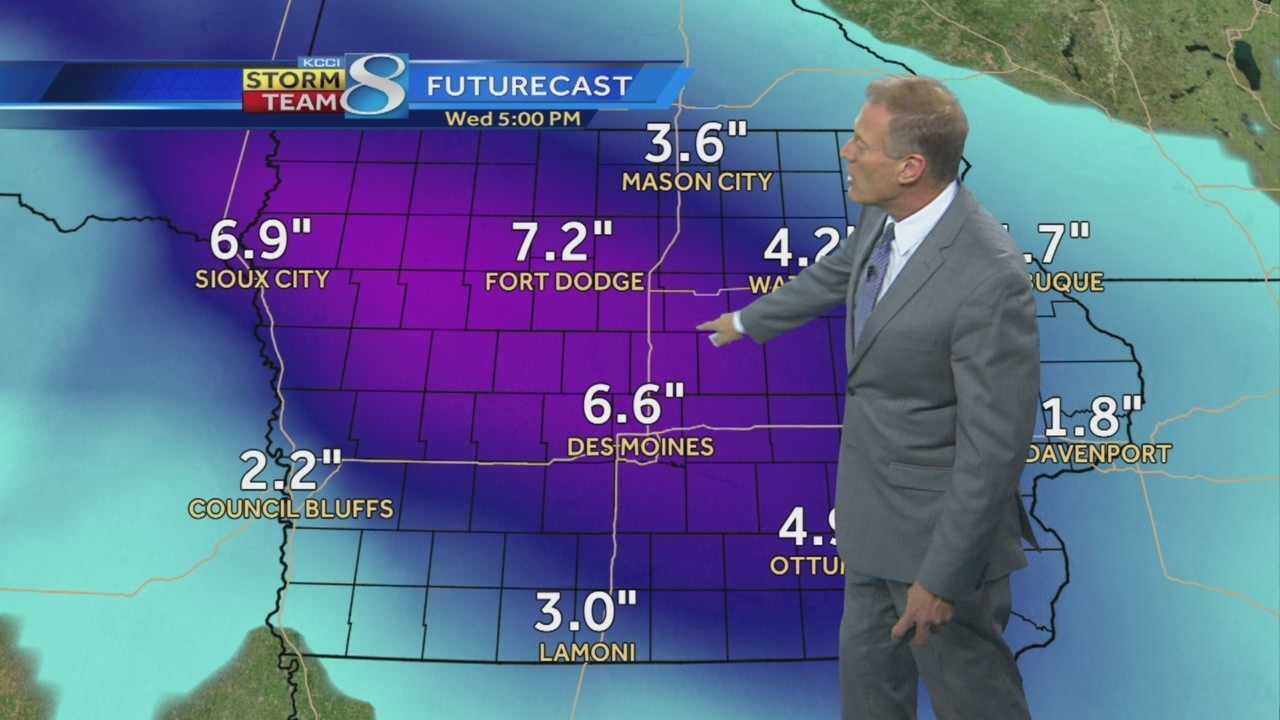 Chief Meteorologist John McLaughlin with the latest snowfall totals for Wednesday's winter storm.