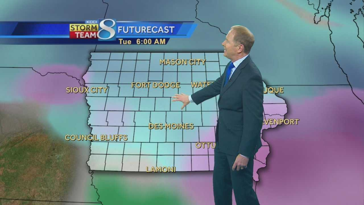 KCCI 8 News at Ten weather forecast