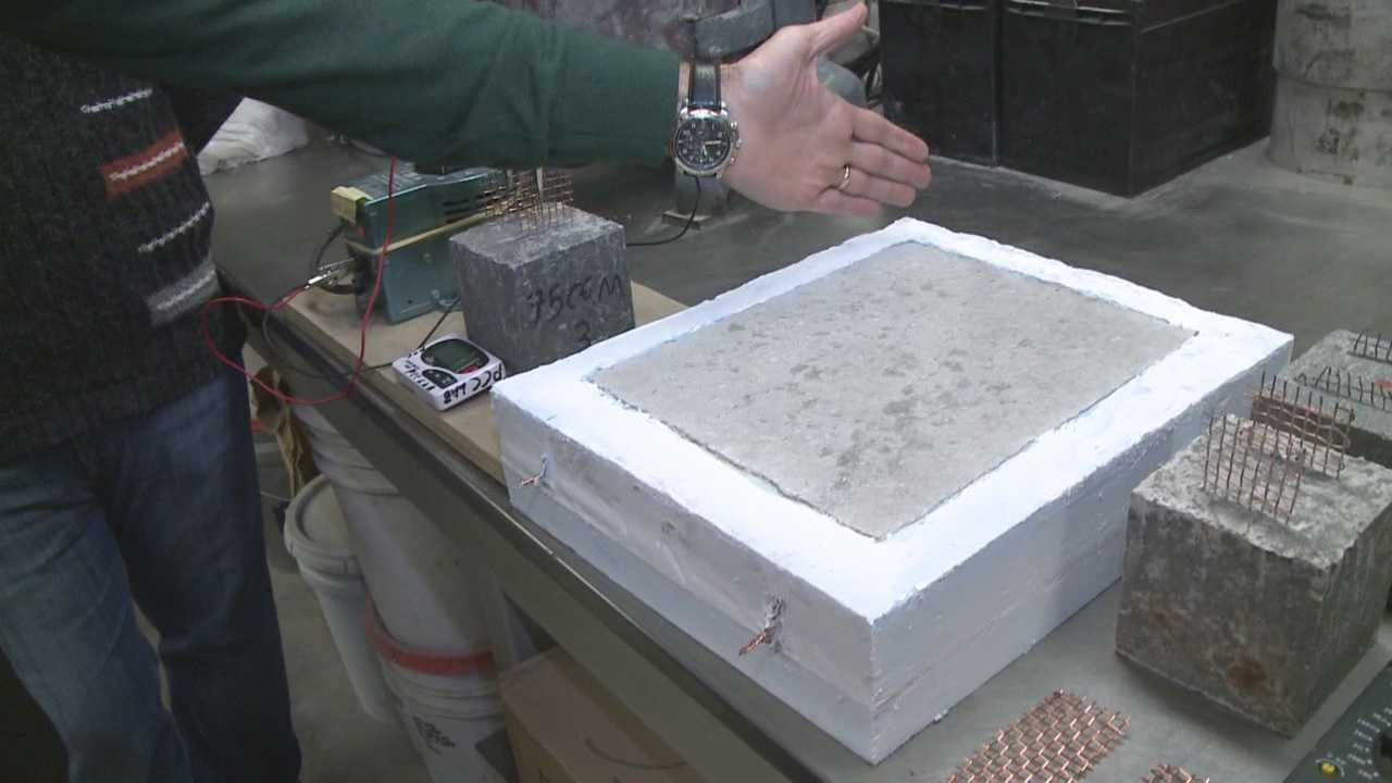 University students and staff are developing new technologies to help melt away ice and snow.