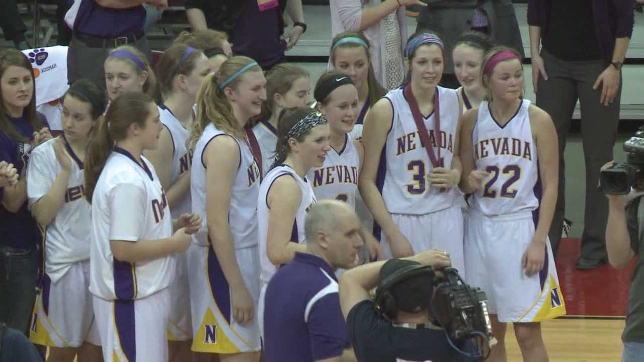 The crowd went wild at Wells Fargo Arena Saturday night as  the Nevada Cubs girls basketball team won the state championship.