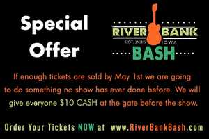 Order tickets here www.riverbankbash.com/